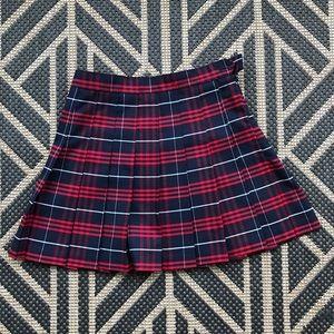 American Apparel Pleated Plaid School Girl Skirt